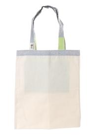 """Ekologiczna torba na zakupy """"handmade"""" -  kremowo-zielona"""