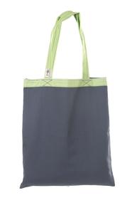 """Ekologiczna torba na zakupy """"handmade"""" -  grafitowo-zielona"""