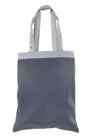 """Ekologiczna torba na zakupy """"handmade"""" -  grafitowo-popielata"""