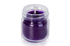 Świeczka zapachowa z lawendą - o zapachu bzu