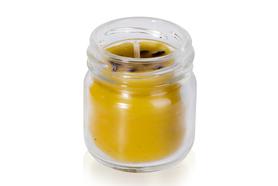 Świeczka z kwiatem lawendy na bazie wosku pszczelego