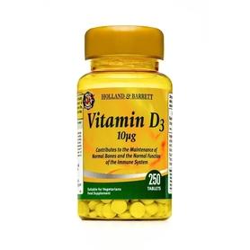 Witamina D3 10 µg 250 Tabletek