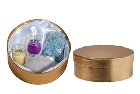 Zestaw upominkowy Relaks #1- Sól Lawendowa , świeczka z wosku pszczelego , świeczka o zapachu frezji i naturalne mydło z różową glinką