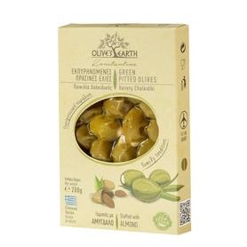 Zielone oliwki Chalkidikis nadziewane całymi migdałami