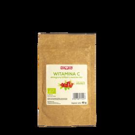 100% Ekologiczny liofilizat z owoców róży, opakowanie 40 g.