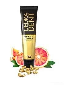 DEDRA DENT pasta do zębów GOLDLINE & ORANGE ze złotem, składnikiem KALIDENT®, ekstraktami z goździków, pomarańczy i mięty, 100 ml
