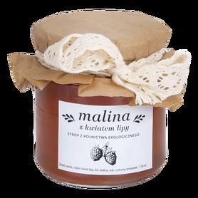 Syrop malinowy z kwiatem lipy – syrop domowy z rolnictwa ekologicznego