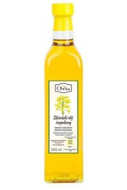 Ślężański olej rzepakowy zimno tłoczony nieoczyszczony 500 ml Ol'Vita
