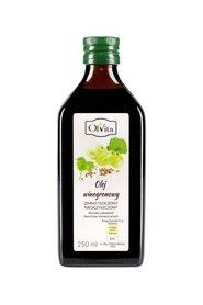Olej z pestek winogron zimno tłoczony nieoczyszczony 250 ml