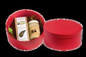 Zestaw upominkowy - Miód rzepakowy 400 g oraz mieszanka ziołowa na stawy w ozdobnym kartoniku