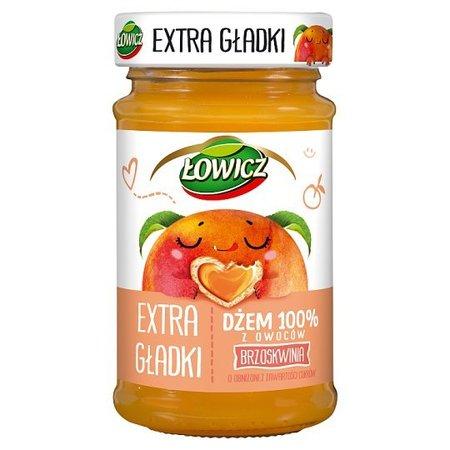 Dżem 100% z owoców Extra Gładki Brzoskwinia - Łowicz 235g (1)