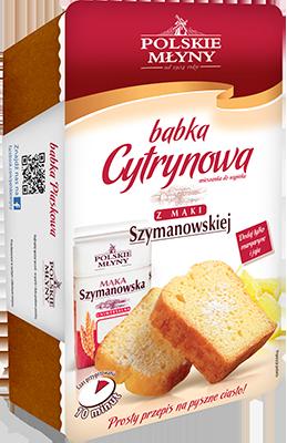 Ciasto Babka cytrynowa - Mieszanka do wypieku POLSKIE MŁYNY 290 g