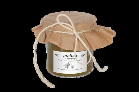 Syrop domowy melisą i cytryną z rolnictwa ekologicznego 130 ml (1)