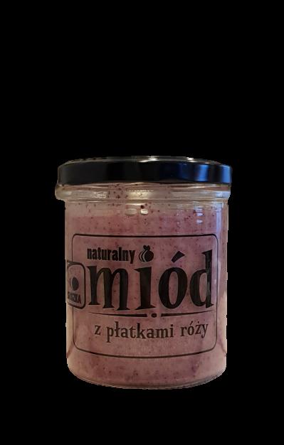 Miód z płatkami róży 350 g (1)
