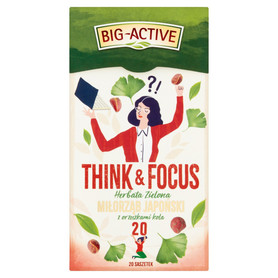 Big-Active - THINK & FOCUS, Herbata zielona, miłorząb japoński z orzeszkami kola