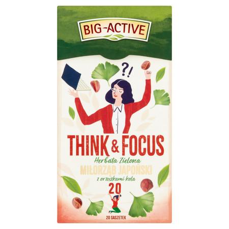 Big-Active - THINK & FOCUS, Herbata zielona, miłorząb japoński z orzeszkami kola (1)